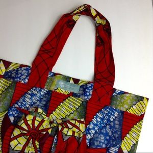 Noonday collection red printed tote